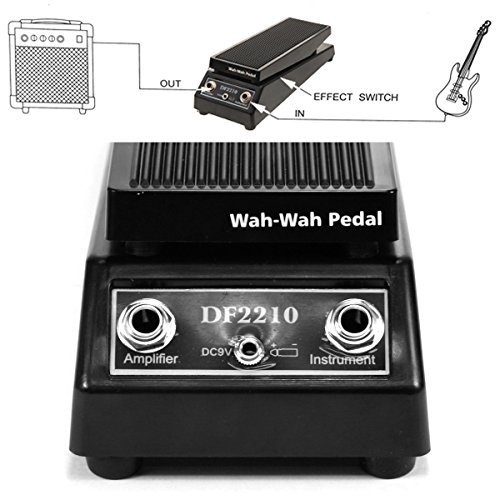 Sound Volume WAH WAH Electric Guitar FX Effect Pedal Black Heavy Duty for bass-driven music like by Heaven Tvcz