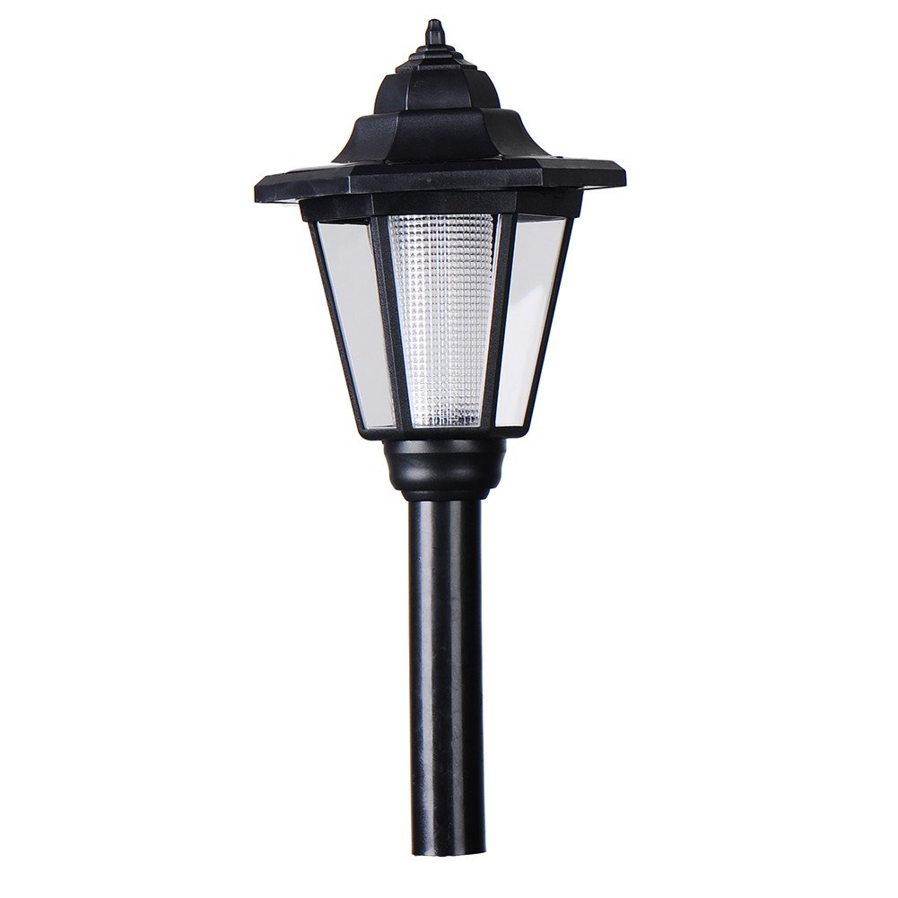 Garden Lamp Post - Outdoor Solar Post Light - Solar Powered Black Garden Lantern Lamp Post Light Lawn Post Lamp Patio Pathway Walkway (White) Sotoboo