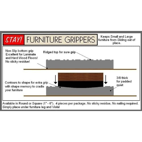 Cheap Stay! Furniture Grippers. Keep Furniture From Sliding On Hard Surface  Floors. Grey