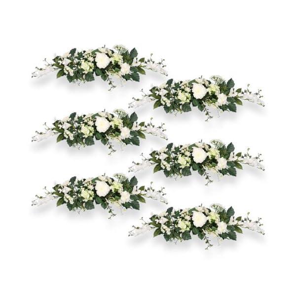 Arcadia Silk Plantation SIX 24″ Snowball Swag Artificial Flowers Wedding Decor