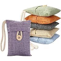 Soledi Natural Air Purifying Bamboo Charcoal Deodorizer Bag Portable Air Freshener for Fridge, Freezers, Closet, Car & Shoes (6packs*100g)