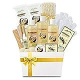 Premium Deluxe Bath & Body Gift Basket. Ultimate Large Spa Basket! #1 Spa Gift Basket for Women (Warm Vanilla Sugar & Coconut Milk)