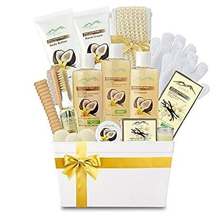 Premium Deluxe Bath & Body Gift Basket. Ultimate Large Spa Basket! #1 Spa Gift Basket for Women (Lavender & Coconut Oils) Purelis Naturals