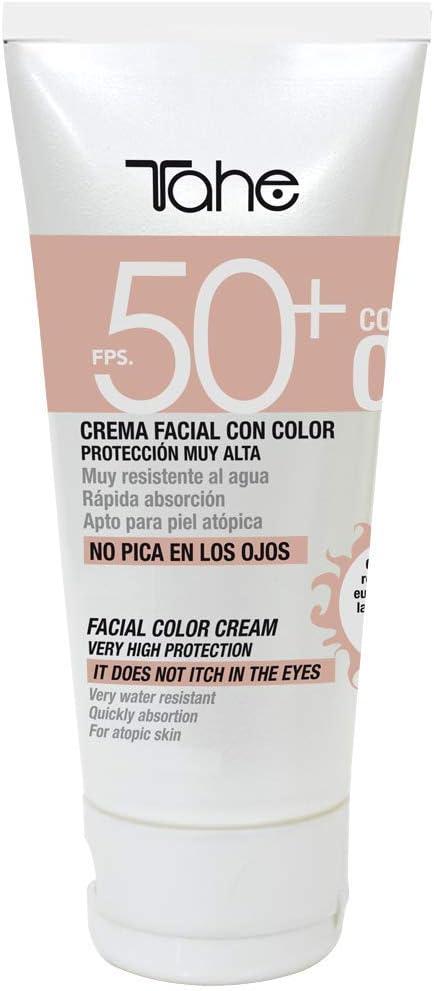Tahe Protector Solar Facial con Color Sun Protect SPF 50+ UVA-UVB ...