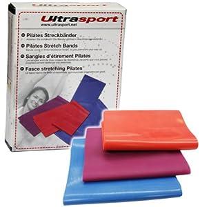 Ultrasport Fitnessbänder 3er Set in verschiedenen Stärken