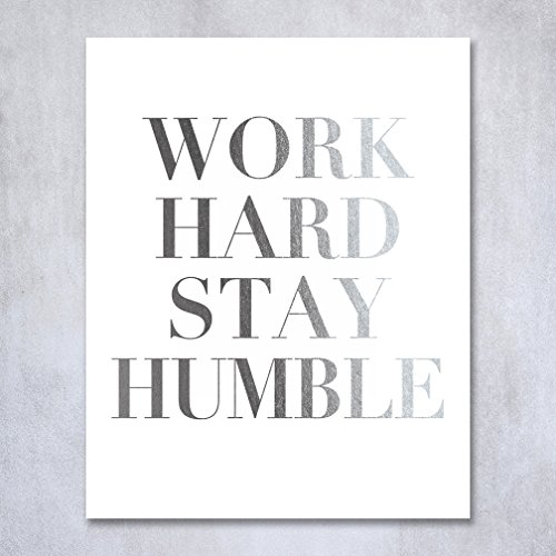 work-hard-stay-humble-silver-foil-decor-wall-art-print-office-inspirational-motivational-quote-metal