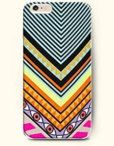 SevenArc Aztec Indian Chevron Zigzag Pattern Hard Case for Apple iPhone 6 Plus 5.5' (2014) ( Colorful Triangles With...