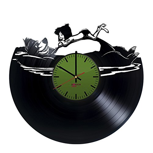 Jungle Book Handmade Vinyl Record Wall Clock - Get unique bedroom or nursery wall decor - Gift ideas for kids and youth  Movie Characters Unique Modern Art