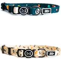 """Tella & Stella, Cat Collar with Self-Opening Buckle for The Safety of Your Cat , Adjustable to 7"""" to 12"""" Long, Soft on…"""