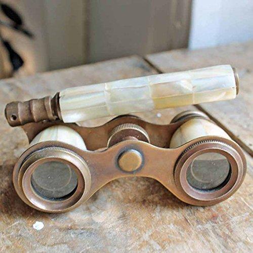 NAUTICALMART Brass Binocular Mother of Pearl - Antique Opera