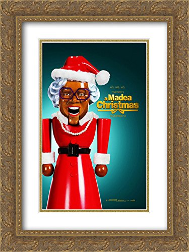 Tyler Perry's A Madea Christmas 18x24 Double Matted Gold Ornate Framed Movie Poster Art - Galleria Of Tyler