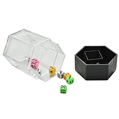 Crqes 1 Set Explosion Dice Mini Colorful Bomb Dice Change Size Kids Magic Trick Toys: Toys & Games