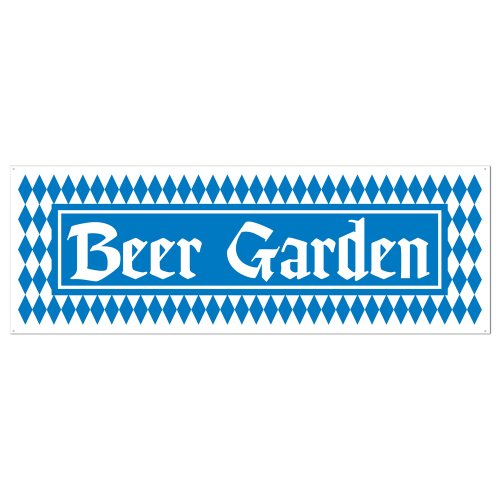 beer garden sign banner party accessory 1 count 1pkg - Oktoberfest Decorations