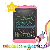 LCD Writing Tablet, 2019 Upgraded Colorful Screen 8.5 Inch Electronic Writing Board Doodle and Scribble Board Magnetic Memo Notes Comes with 1 Lanyard for Kid & Adults (Pink) ...