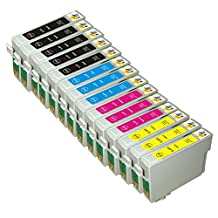 Ink & Toner Geek® 14 Pack Remanufactured Replacement Inkjet Cartridges for Epson T069 69 #69 (T069120, T069220, T069320, T069420) For Use With Epson Stylus C120 Stylus CX5000 Stylus CX6000 Stylus CX7000F Stylus CX7400 Stylus CX7450 Stylus CX8400