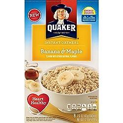 Quaker Instant Oatmeal Breakfast Cereal, Banana & Maple, 12.1 Ounce