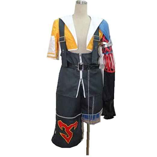 final fantasy 10 tidus cosplay costume full set halloween costume male s