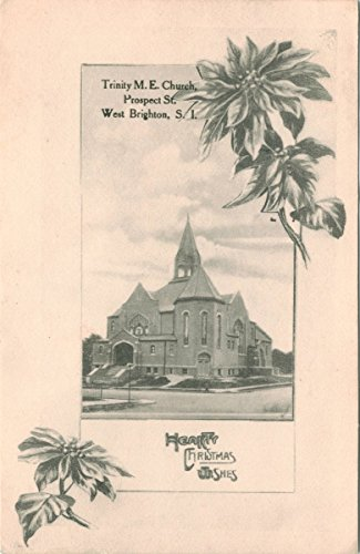 Historic Pictoric Postcard Print | Trinity M.E. Church, Prospect St. West Brighton, Staten Island, | Vintage Fine Art