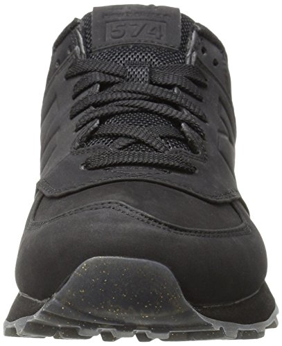 6a4b26d3ea92 Amazon.com | New Balance Women's 574 Molten Metal Pack Fashion Sneaker,  Black/Gold, 5 B US | Fashion Sneakers