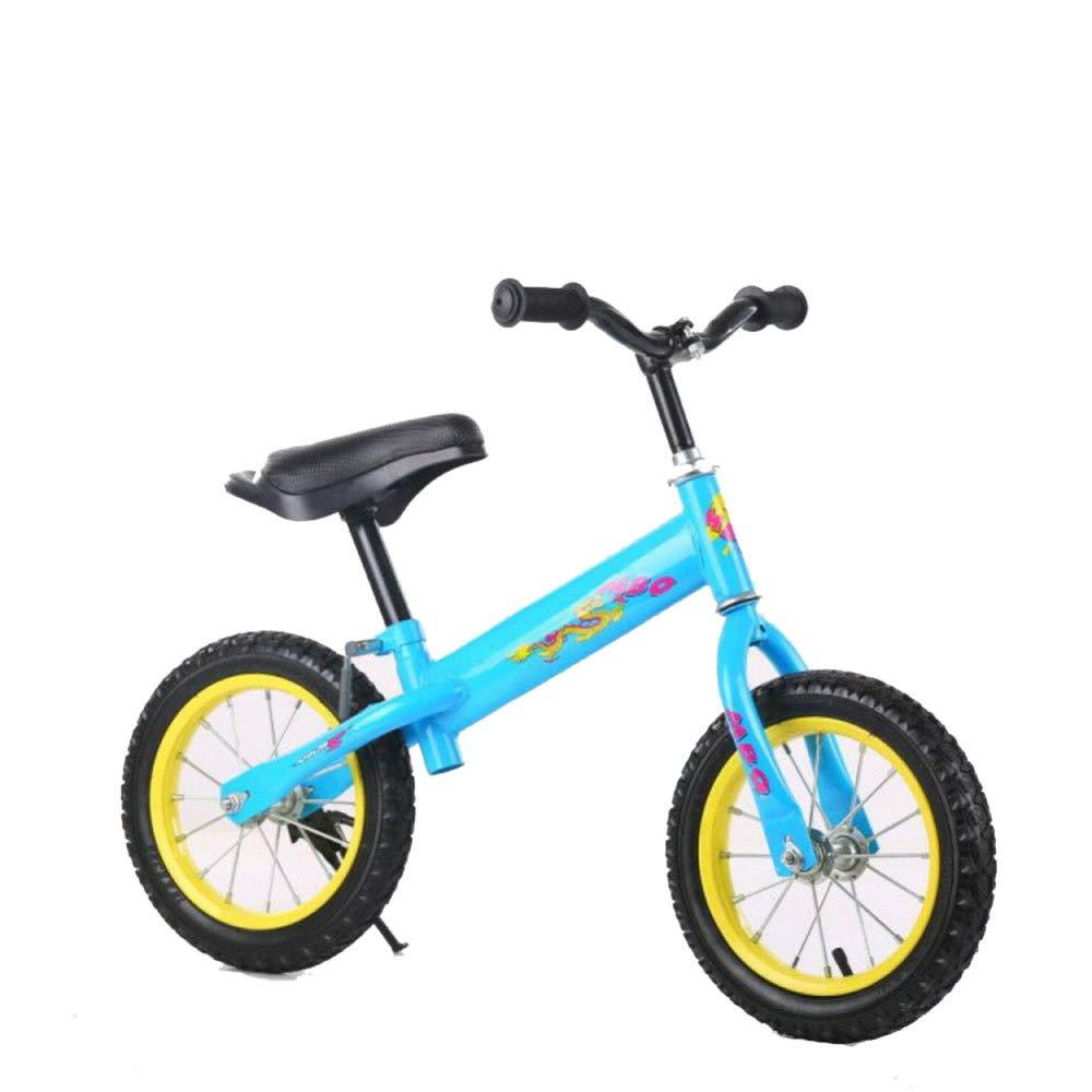 Bilancia da 12 Pollici Bike per I più Piccoli Bilancia da Allenamento Bike per Bambini età da 18 Mesi A 3,5 Anni, Telaio di Supporto,blu-12''