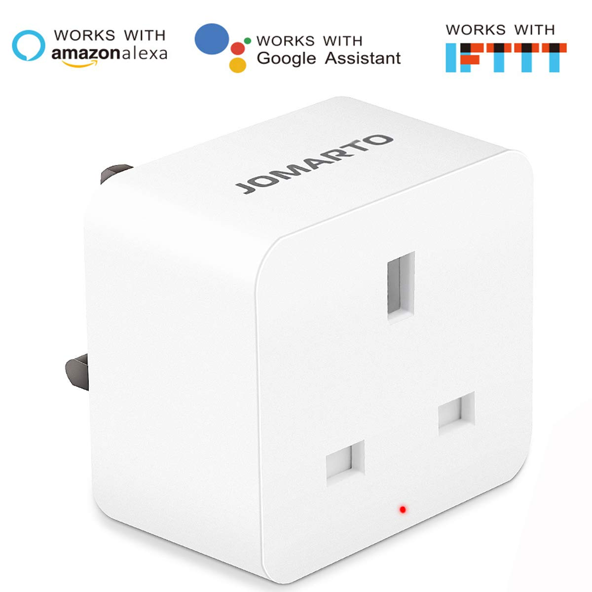 Google Home and IFTTT No Hub Required 2 Pack JOMARTO Smart Socket Compatible with Alexa WiFi Smart Plug Mini Smart Plug Outlet Remote Controlled with Timer Function by iOS//Android Device