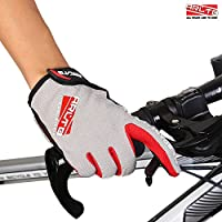 Arltb 3 Sizes Cycling Gloves 3 Colors Bicycle Bike Biking Gloves Mitts Full Finger Pad Breathable Lightweight For Bike Riding Mountain Bike Motorcycle Free Cycle BMX Lifting Fitness Climbing