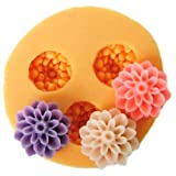 JADE Onlines 1.5cm Flower Silicone Fondant Sugar Pudding DIY Cake Cookie Mini Craft Mold