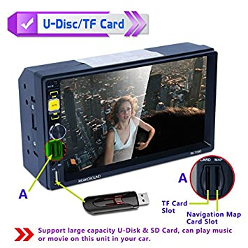 7159G Reproductor multimedia para coche MP5 GPS Navegador Bluetooth FM/RDS Radio Coche: Amazon.es: Coche y moto