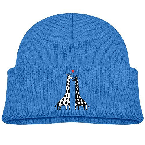 Hinanqugu Baby Giraffes Couple In Love Unisex Winter Warm Knit Hat Cute Soft Stretch Lined Beanie Cap - Winnipeg Watches Mens