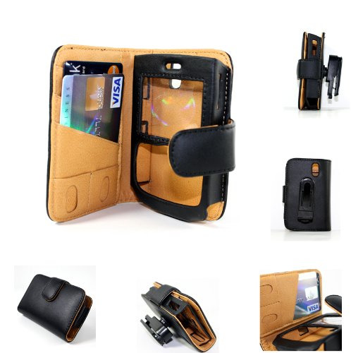 Black Leather Holster Case Cover with Belt Clip for Blackberry 8300 8310 8320 8330 Phone Accessory