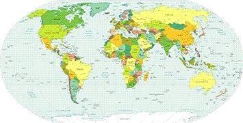 amazon co jp world map with glossyポスター写真首都globe地球吊り壁