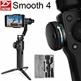 [2018 Verson] Zhiyun Smooth 4 3-Axis Handheld Gimbal Stabilizer w/Focus Zoom Capability for Smartphone Like iPhone X 8 Plus 7 6 SE Samsung Galaxy S9+ S9 S8+ S8 S7 S6 Q2 edge new Smooth-Q/III (Black)