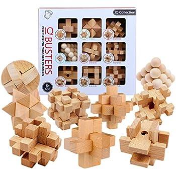 IQ Wooden Puzzle Kids Toys Geometry Tangrams Logic Brain Training Games EP