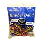 BAZIC Assorted Dimensions 56g/Approx 100 Rubber Bands, Multi Color Size: 2 Ounces, Model: 6110, Office Shop (assortedrubberband100)