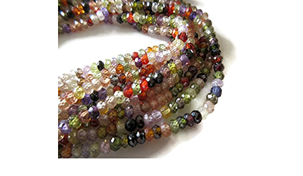 Mix Stone Roundles Beads 4mm-5mm 13 Inches RB288 Bulk Lot 23 Strands Excellent Quality Multi Stone Faceted Rondelles