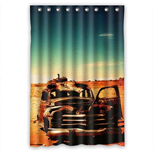 (Vintage old deserts Outback unique jeep Shower Curtain Measure)