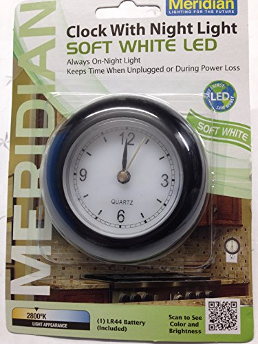 Meridian Electric 10742 Led Analog Clock With Night Light