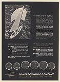 1971 America's Cup Intrepid Yacht Boat Signet Scientific Instrumentation Print Ad (66840)