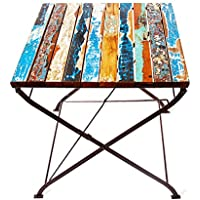 EcoChic Lifestyles Teak for  Two Reclaimed Wood Bistro Table