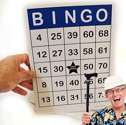 (Jumbo Bingo Cards 100 Pc. Gloss Lamination 8.5 x 11 - Easy to read )