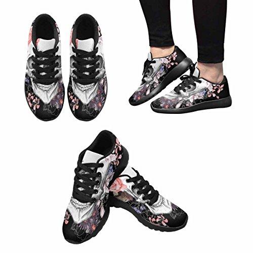Scarpe Da Corsa Trail Running Da Donna Jogging Leggero Sportivo Da Passeggio Sneaker Da Ginnastica E Fiori Giorno Dei Morti, Vintage Multi 1