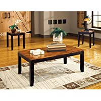 Abaco Occasional Table 3 Pc Set in Acacia Finish