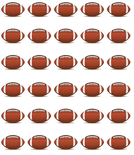 Football Edible Cupcake Toppers 1.5