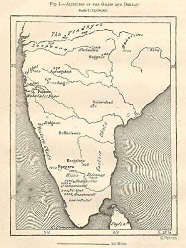 Deccan Plateau Map on