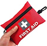 Mini First Aid Kit,92 Pieces Small First Aid Kit - Includes Emergency Foil...