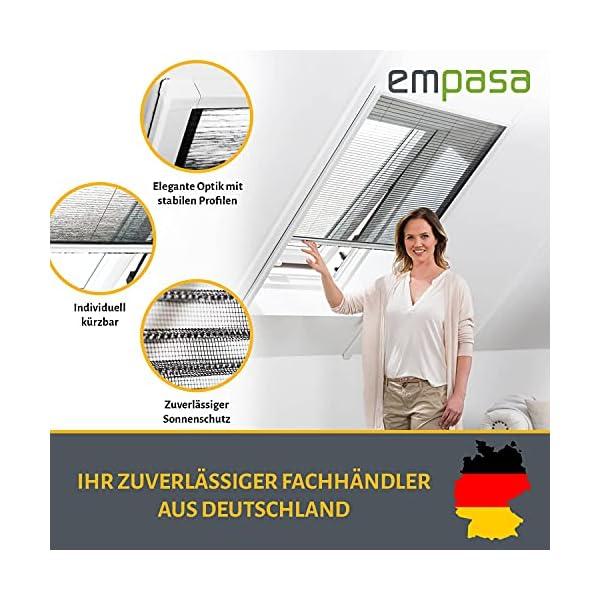 empasa Insektenschutz Fliegengitter Dachfenster Plissee 'Master' Alurahmen verschiedene Größen in weiß und braun als…