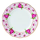 Royal Albert New Country Roses Formal Vintage Bread and Butter Plate, 6.3'', White