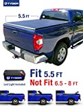 Tyger Auto Tg-bc3t1432 Tri-fold Tonneau Bed Cover Fits 2014-2017 Toyota Tundra (with/without Utility Track)includes Utility Track Installation Kit 5.5' Short Box