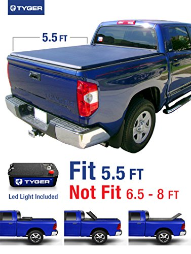 Tyger Auto TG-BC3T1032 TRI-FOLD Truck Bed Tonneau Cover 2007-2013 Toyota Tundra | Fleetside 5.5' Bed | For models with or without the Deckrail System