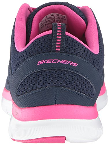 2 Hot Appeal Simplistic Flex Pink Trainers Women's Lite Navy 0 Skechers Fitness Weight Black 75REqw